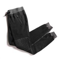 Cotton Citizen Biker Sweatpants (16.310 RUB) found on Polyvore featuring activewear, activewear pants, pants, black sweatpants, vintage sportswear, vintage sweat pants, vintage sweatpants and sweat pants