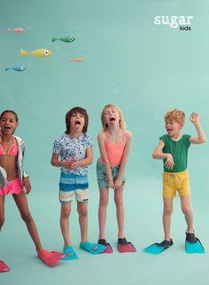 Zoe, Biel, Chloe & Arnau from Sugar Kids for Hooligans Magazine by Eva Bozzo.