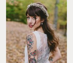 40 Beautiful Brides With Bangs - Mon Cheri Bridals