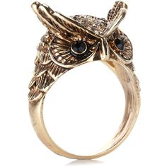 Accessorize Oscar Owl Ring ($11) ❤ liked on Polyvore featuring jewelry, rings, accessories, anillos, brown, owl ring, brown jewelry, brown ring, owl jewellery and accessorize jewelry