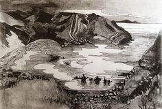 Happy #WinterSolstice the shortest day and the longest night of the year is upon us...Enjoy #celebrate #explore #Lulworth #Dorset - thanks to #local #artist Yvonne Barnett Adams for the drawing