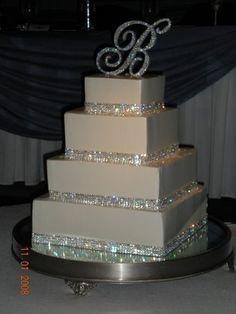 4 row Crystal Cake Ribbon Rhinestone Wedding Cake Ribbon by Laura's Boutique, http://www.amazon.com/dp/B003SQZL6Q/ref=cm_sw_r_pi_dp_wpjfqb0RHN98X