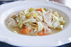Easy for a hearty and comforting one-pot weeknight meal. Fettuccine Noodles, Chicken Base, Chicken Noodle Soup, Baby Carrots, Rotisserie Chicken, Weeknight Meals, A Food, Eat, Ethnic Recipes