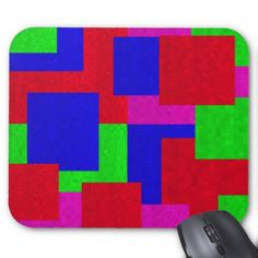 #Mosaic Block Colours Mouse Pad - #office #gifts #giftideas #business
