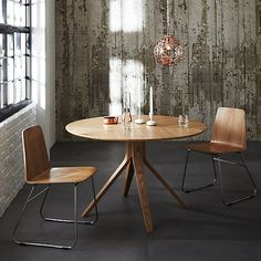 Buy House by John Lewis Radar 4 Seater Round Dining Table, Walnut from our Dining Tables range at John Lewis & Partners. Free Delivery on orders over Dining Table Online, Dining Room Table, Dining Chairs, Dining Area, Circular Dining Table, My Ideal Home, Walnut Table, Dining Room Inspiration, New Living Room