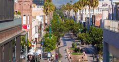 Third Street Promenade em Santa Mônica #viagem #california