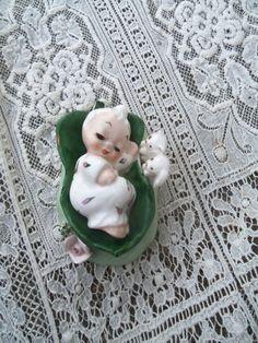 Precious Rare Vintage Napco Ceramics Itsy Bitsy by bettyrayvintage, $33.00
