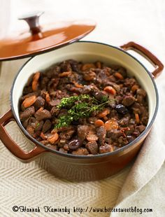 Non-boeuf en daube (unfussy vegan French food)