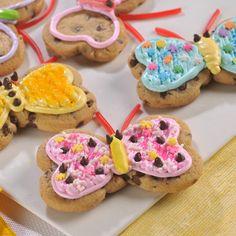 Chocolate Chip Butterfly Cookies (Easy; 14 cookies) #cookies