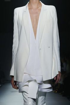 Haider Ackermann SS15 Double breasted blazer with shoulder pads harken 80s silhouettes