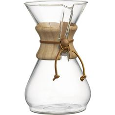 Chemex 8 Cup Coffee Maker in Coffee Makers | Crate and Barrel    >>MUM