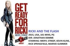Who doesn't love Meryl & her real life daughter in Ricki & The Flash @Fox_Theatre Fri, Sept 4 @ 7pm foxtheatre.ca Ricki And The Flash, Kevin Kline, Rick Springfield, Meryl Streep, Get Ready, Fleas, Theatre, Real Life, Fox