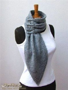 unique scarf ideas for women, knitting patterns - crafts ideas - crafts for kids. unique scarf ideas for women, knitting patterns - crafts ideas - crafts for kids. Knit Or Crochet, Crochet Scarves, Knitting Scarves, Hand Crochet, Crochet Bikini, Diy Fashion, Ideias Fashion, Fashion Clothes, Fashion Outfits