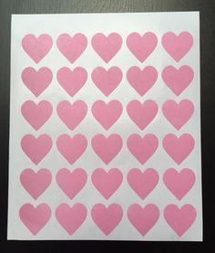 Geschenk-Aufkleber Herz rosa pink 30 Stück von Hearts-and-Craft Design auf DaWanda.com
