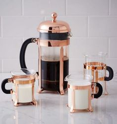 Make your morning coffee ritual extra special with a copper French press. Make your morning coffee ritual extra special with a copper French press. Copper Accessories, Home Decor Accessories, Decorative Accessories, Rose Gold Kitchen Accessories, Decorative Accents, Coffee Shop, Coffee Mugs, Coffee Maker, Coffee Lovers