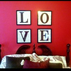 12x12 frame, scrapbook paper, and letters- all from hobby Lobby.