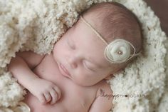 newborn tieback headband baby headband by Silverthread15 on Etsy