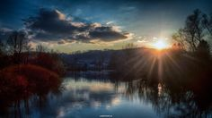 """I'm happy and proud my pics """"When sun touche the hill"""" has been selected by Photo One Editors for Award. #sun   #sunset   #sundown   #dusk   #twilight   #river   #riverside   #Mreznica   #sky   #clouds   #water   #rural   #hill   #photo   #photography   #pics   #pictures   #image   #HDR   #Canon   #rebel   #Croatia   #Karlovac   #Hrvatska   #CRO"""
