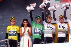 104th Tour de France 2017 / Stage 2 Geraint THOMAS (GBR) Yellow Leader Jersey / Vasil KIRYIENKA (BLR) Green Sprint Jersey / Mikel LANDA MEANA (ESP)/ Sergio Luis HENAO (COL)/ Dusseldorf - Liege (203,5km)/ TDF /