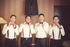 The groom and his bestman