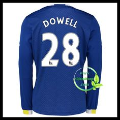Fotballdrakter Everton Langermet DOWELL #28 Hjemmedraktsett 2016-2017 Everton, Graphic Sweatshirt, T Shirt, Premier League, Sweatshirts, Long Sleeve, Sleeves, Sweaters, Mens Tops