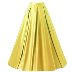 Duraplast Women's Fashion Long Skirt Formal Satin A-Line Skirt High Waist