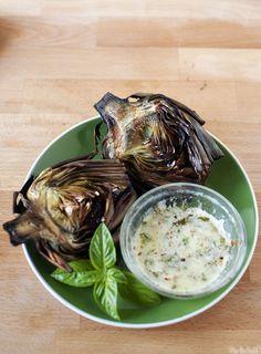 Grilled Fresh Artichokes