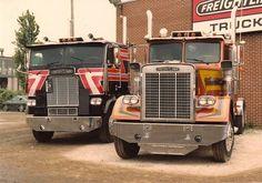 Vintage White Freightliner Trucks