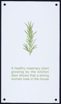"""rosemary >>> by Erica Van Horn """"A healthy rosemary plant growing by the kitchen door shows that a strong woman lives in the house. Rosemary Plant, Hedge Witch, Kitchen Witchery, Season Of The Witch, Garden Quotes, Practical Magic, Healing Herbs, Grow Your Own Food, Growing Herbs"""