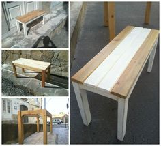 This one was a request of a costumer. She wanted a small bench for the entrance to basically put the shopping bags on top whenever she arrived home carrying them :) This is what the pallets had hidden for me.…