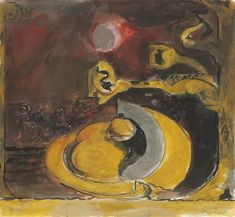 Artwork by Graham Sutherland, Oval Stone by Wooded River, Made of pencil, ink, watercolour and gouache on paper Gouache, Graham, Watercolour, Auction, Pencil, Ink, River, Stone, Artwork
