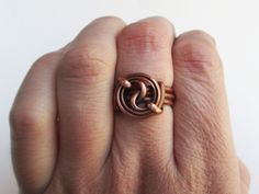 copper ying/yang ring