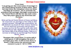 Marriage consecration which will keep your marriage from attacks of the evil when said daily (preferably by both spouses). Testimony: it worked to save a marriage from divorce even though the wife was the only one praying. Pray, pray, pray, even if it takes several years. Marriage is a sacrament and God will defend it, as long as at least one of you is praying.