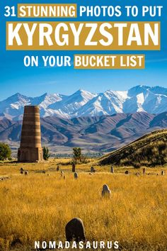 Of all the places in Asia, Kyrgyzstan has to be one of the most underrated and beautiful places to visit! Here are 31 incredibly photos that will immediately make you add it to your bucket list. From Bishkek to epic mountains, find your inspiration here. Travel Advice, Travel Guides, Travel Tips, Places Around The World, Travel Around The World, Places To Travel, Places To Go, Ireland Travel, Galway Ireland