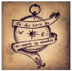 Love this quote with the compass #peterpan #disney