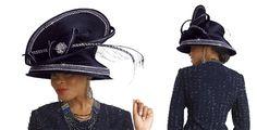 Womens Church Hat In Navy