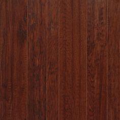 Hickory Prefinished Engineered Trailhouse Hand Scraped hardwood floors by ARK Floors.  Finish Shown: DARK CANYON  www.shop4floors.com
