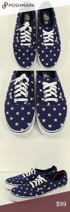 e0bcad6c81732d Vans Authentics Houston ASTROS MLB Sz 12 Men s Vans Authentics Houston  ASTROS MLB SZ 12 USED