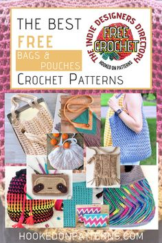 In search of free patterns for crochet bags? Here you'll find the best ALL FREE crochet patterns for handbags, market bags, totes & purses. Free Crochet Bag, Crochet Pouch, Crochet Market Bag, Crochet Bags, Bag Pattern Free, Tote Pattern, Crochet Handbags, Crochet Purses, Modern Crochet Patterns