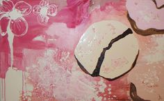 One of the paintings I own and love.  Trio by Jonna Johansson.        Apropos: Pink Doughnuts
