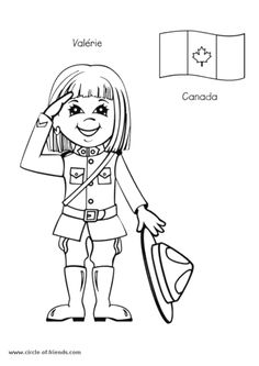 World Thinking Day - international kids coloring pages Coloring Pages To Print, Coloring Pages For Kids, Free Coloring Pages, Coloring Books, Kids Coloring, Coloring Sheets, Gs World, Girl Scout Activities, World Thinking Day