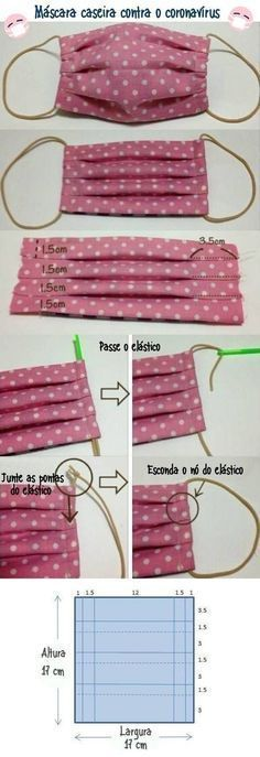 Sewing Hacks, Sewing Tutorials, Sewing Patterns, Crochet Patterns, Fabric Crafts, Sewing Crafts, Sewing Projects, Easy Face Masks, Diy Face Mask