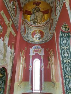 Byzantine Icons, Byzantine Art, Byzantine Architecture, Art And Architecture, Orthodox Prayers, Christian Artwork, Church Interior, Renaissance Paintings, Mural Art