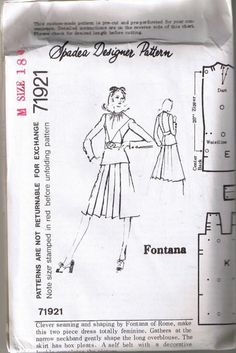Vintage Dress Pattern 1970's Style by TheIDconnection on Etsy, $10.00