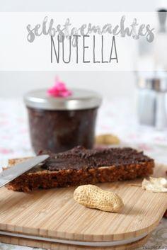 Nutella selber machen selbstgemacht Rezept Schokocreme Aufstrich Schokolade
