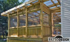Nice wooden patio pergola
