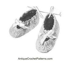Pattern for Baby Booties - Free Crochet Baby Bootie Pattern