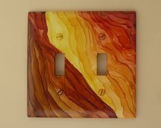 Canyonlands - Choose Your Size and Style of Switch Plate, Painted with Alcohol Ink