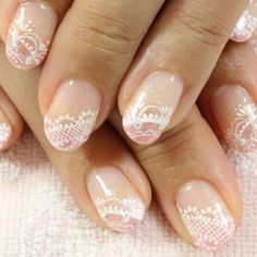 Feminine Lace Nails. See more details