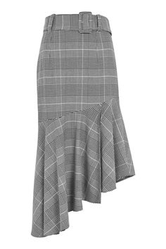 Topshop Check Belted Asymmetric Midi Skirt, $100.00, available at Topshop. #refinery29